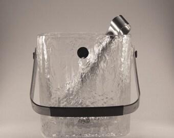 Mid century Hoya Crystal Ice Bucket