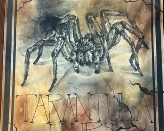 Apothecary Label - Canvas Print - Tarantula Hairs