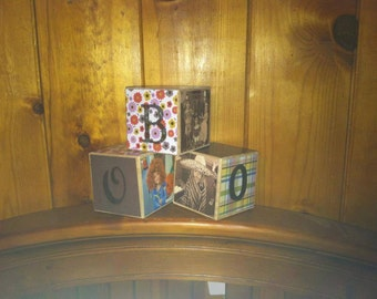 Made to order custom picture 3 letter blocks