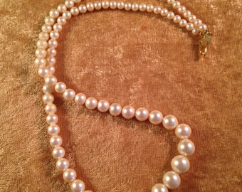 Unsigned Marvella Faux Pearl Necklace - Pat 537985 - 006NL