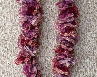 Ruffled Scarf with Sequins