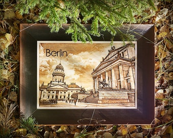 Photos of Berlin by laser engraving