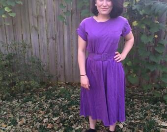 Funky Purple T-Dress