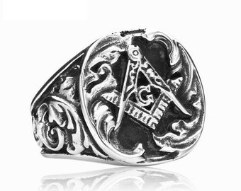 Masonic ring stainless steel 316L for him and her