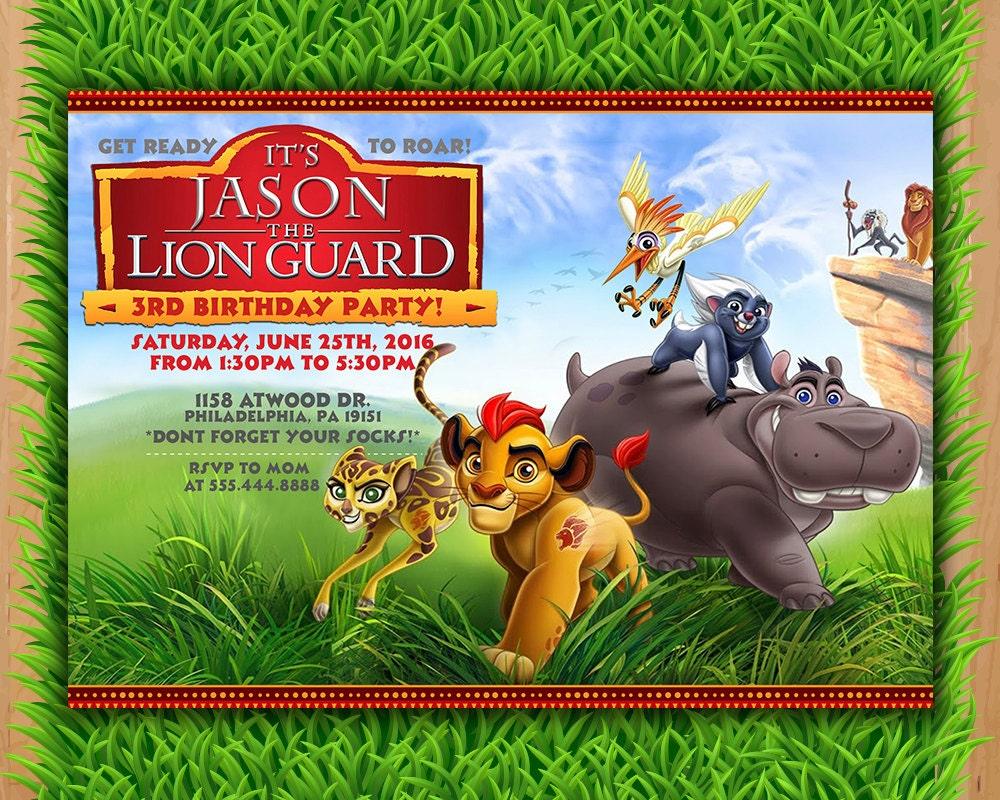 Lion Guard Invitation Kion Lion Guard Birthday Invitation – Lion Birthday Invitations