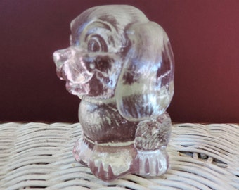 Goebel Solid Glass Paperweight  Vintage Dog from Germany