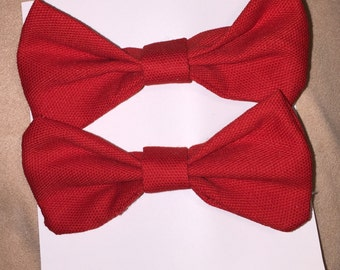 Red Canvas Bows
