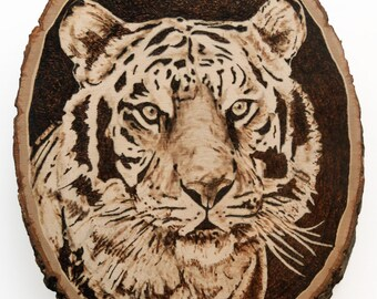 Wood Burning Tiger