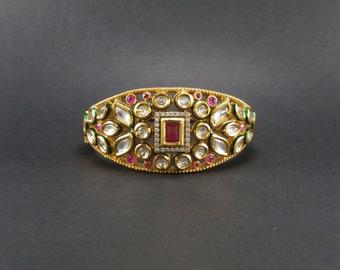 Indian jewelry,kundan bracelet,bollywood jewelry,studded bracelet,meena bracelet,golden bracelet,Kundan jewelry