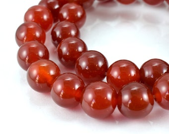 New Carnelian Gemstone Round Beads 6mm, 8mm, 10mm and 18mm loose Beads birthstone natural Beads for jewelry making