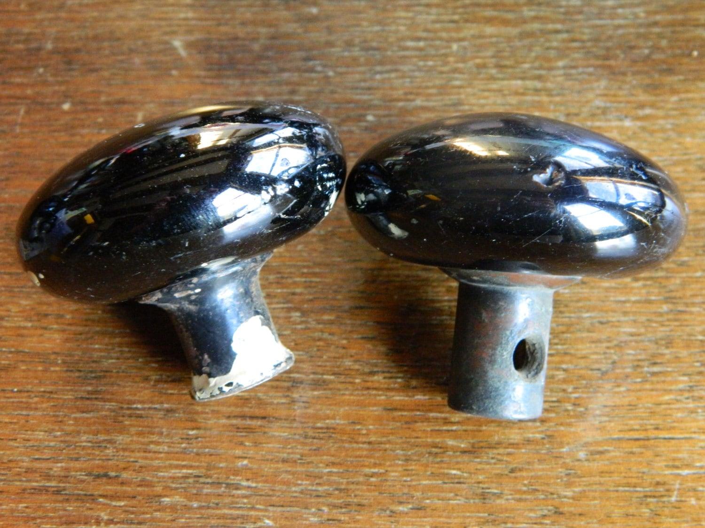 Antique Porcelain Door Knobs black porcelain door knobs, vintage black knobs, farmhouse