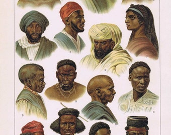 Litho African peoples 1900