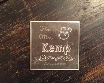 Mr. and Mrs. Coasters (set of 4)