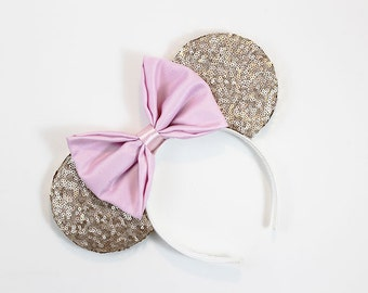 Rose Gold Sequined Mouse Ears