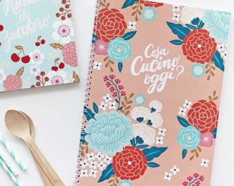 Kitchen Recipes Journal, Notebook, Diary Note Book Made in Italy