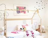 Twin size house bed / bed house / kid's nursery / wooden house bed / Montessori nursery / express shipping