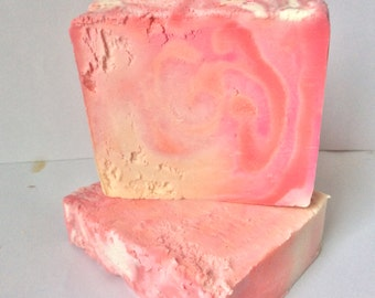 Handmade Cherry blossom soap slice 100g shea butter bar