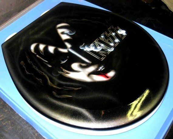 Kiss Music Custom Airbrushed Toilet Seat Premium Lid By