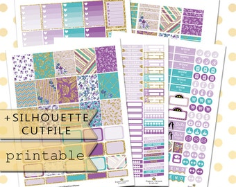 Printable April Monthly Kit Planner Stickers/Planner Stickers for use with Erin Condren Life Planner/ April Monthly Planner Sticker Kit