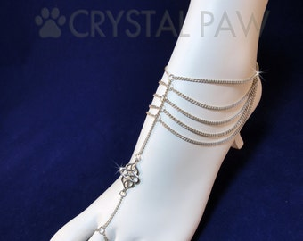 Chain Foot Jewelry. Slave Anklets. Foot Chain. Beach Wedding Accessory. Barefoot Sandals. Anklets. Pair. Set of 2 pcs.