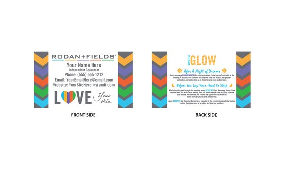 Rodan Fields Full Color Business Cards