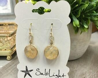 Dangle Stone Earrings