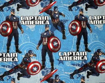 Fat Quarter Marvel Captain America fabrics A1