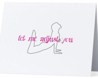 Yoga Cards-Let Me Adjust You