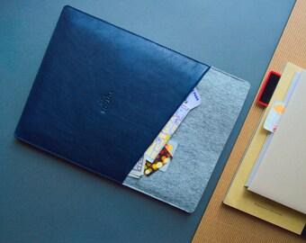 "MacBook  12"", 13"" & 15"" sleeve,New MacBook Pro 13 sleeve, MacBook Air 13 pouch, MacBook Pro 13 Retina case, McBook 12 sleeve // CULT  (Blue)"