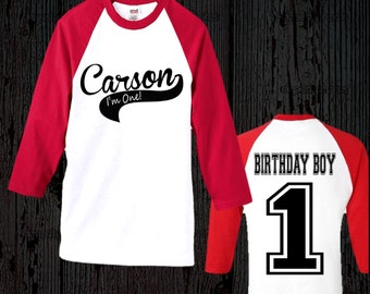 Birthday Boy Baseball Shirt - Birthday Boy Raglan Shirt - First Birthday Shirt