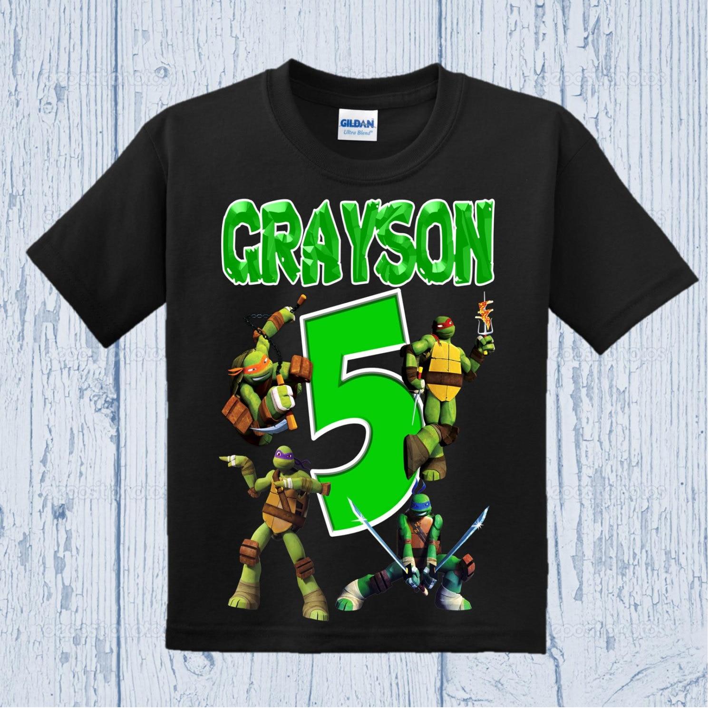 Ninja Turtles Birthday Shirt Tmnt Birthday Shirt Other