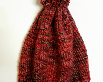 Handmade knit beanie with pom pom