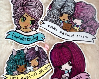 Feminist Cuties Sticker set