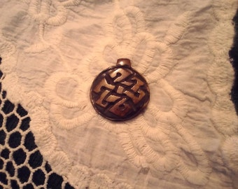 Polished, Wooden Pendant