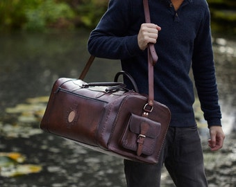 Luis large leather holdall