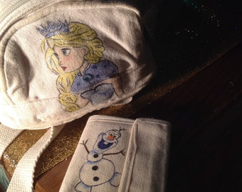 Rucksack and wallet ice Queen