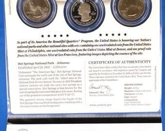 2010 US Mint - Hot Springs Quarter Set