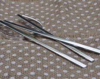 150 Polished  1/4' x 6' Bracelet Cuff Blanks 14 Gauge Food Safe 1100 Aluminum- FLAT