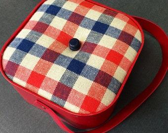 Sewing box sewing basket vintage 70s