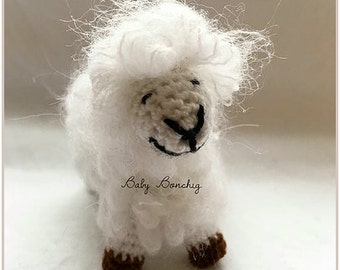 Christmas toy crochet sheep gift birthday baby todler miniature amigurumi