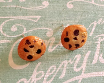 Chocolate chip cookie stud earrings chocolate chip cookie earrings
