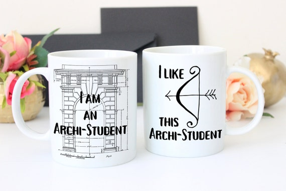 Gift For Architect Architecture Gifts Architectural Mug Set