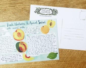 Recipe Card, 'Fruit Salad'