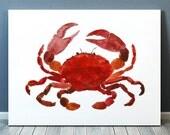 Beach nursery decor Beach house print Crab poster Nautical art ACW449