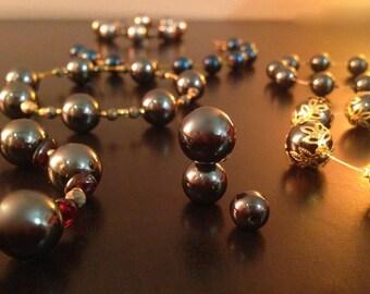 Hematite and Pyrite crystal bangle