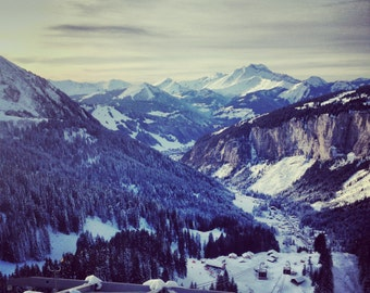 Photograph from the top of the lifts at Avoriaz