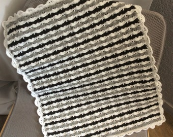 Cover wave black white grey knit