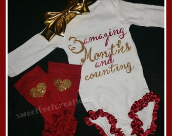 Custom Amazing Months and Counting onsie