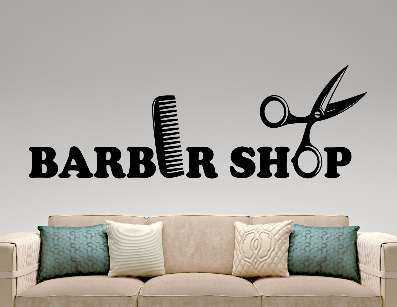 Barber Shop Wall Decal Hairdressing Salon Vinyl Sticker - Custom vinyl wall decals for hair salonvinyl wall decal hair salon stylist hairdresser barber shop