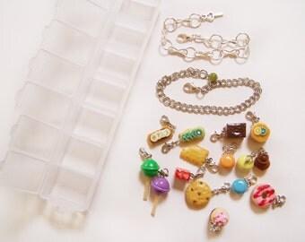 KIT jewelry GOURMANDS 15 sweets + 2 brackets bracelet